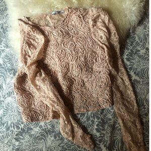 Romantic Blush Lace Top